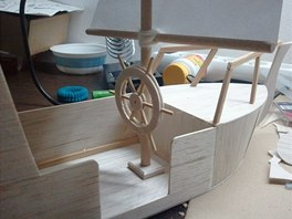 Detail modelu lodi z balzy