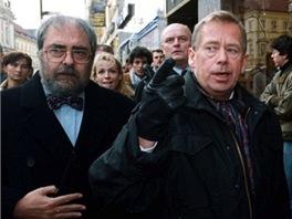 V�clav Havel a Vladim�r Hanzel