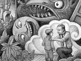 Ilustrace z knihy Briana Selznicka Hugo a jeho velký objev