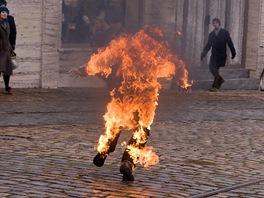 Z natáčení filmu Hořící keř