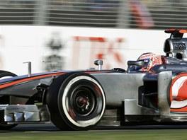VÍTĚZ. Jenson Button na Mclarenu vyhrál první závod nového ročníku MS formule 1, v Austrálii neměl konkurenci.