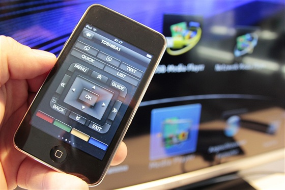 Ovládání TV aplikací pro iOS a Android