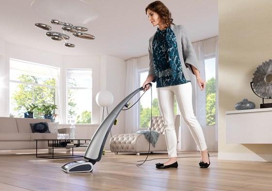 AquaTrio se používá na tvrdé podlahy.
