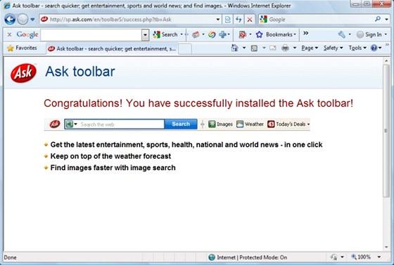 Ask Toolbar je typickým zástupcem bloatwaru v podobě zbytečných doplňků