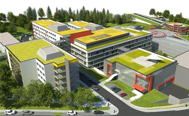 Vizualizace modernizovaného areálu nemocnice v Náchod�