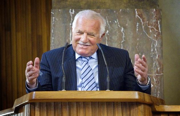 Prezident Václav Klaus se v pra�ském Karolinu zú�astnil  oslavy 150. výro�í