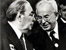 Gustáv Husák a Leonid Brežněv