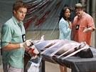 Dexter při práci, rozumějte při své oficiální práci u policie, za kterou je