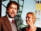 Iitalský filmař Nanni Moretti a francouzská herečka Sandrine Bonnaireová