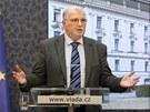Tiskov� konference po ne�sp�n�m jedn�n� Ne�asovy vl�dy s odbor��i. (23. b�ezna