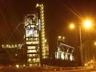 Slavnostně nasvětlené bývalé vysoké pece Vítkovických železáren. (19. března