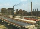 Koksovna Karolina na konci 70. let v době stavby Frýdlantských mostů.