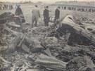 Il-18 OK-OAD. Pohled na místo nehody.