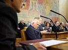 Prezident V�clav Klaus se v pra�sk�m Karolinu z��astnil  oslavy 150. v�ro��