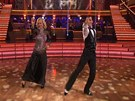 Martina Navrtilov a jej tanen partner Tony Dovolani v souti Dancing with
