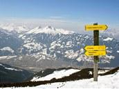 Z Wiedersberger Hornu se nabízí vyhlídka do sousedního údolí Zillertal.