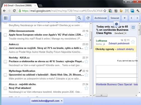 Aplikace Offline Google Mail vám v prostředí internetového prohlížeče Chrome