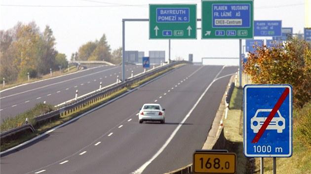 Na rychlostní silnici R6 v úseku Cheb - Karlovy Vary bude od dubna povolen...