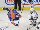 STAR DANCE NA LEDĚ. Skvělé taneční číslo předvedli v pátečním zápase NHL Ben