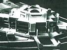 Návrh domu kultury, s nímž Miloslav Hrubec vyhrál architektonickou soutěž.