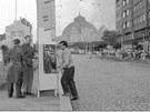 Dolní část Stalinovy třídy, dnešní Americké, v roce 1960. Snímek zachycuje...