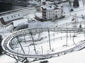 Relaxpark s horskou dráhou v Peci pod Sněžkou v 9:27(30. března 2012)