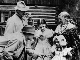 IKarel Hašler při natáčení svého posledního filmu Babička (1940)
