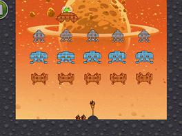 Angry Birds Space - Bonusová úroveň. Kterou starou hru nám jenom připomíná?