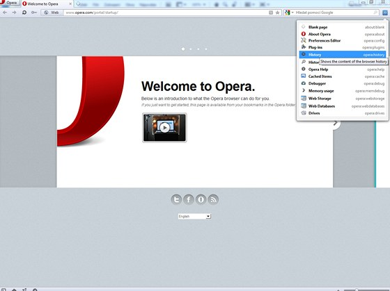 Skrytá nastavení Opery