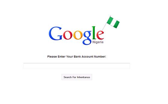 Parodie na nigerijsk� dopisy o milionov�ch d�dictv�ch - za str�nkou