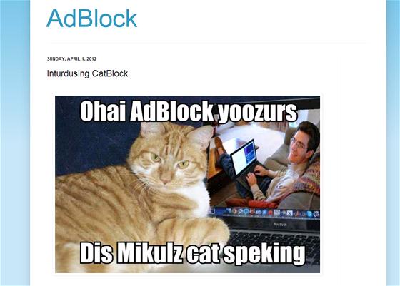 Roztomil� vyu�it� memu LOLcats k p�ejmenov�n� popul�rn�ho dopl�ku AdBlock se