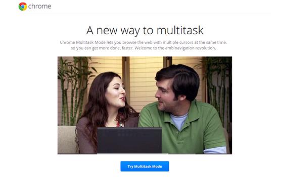 Google Chrome Multitask Mode nab�z� d�ky dv�ma mo�nostem a dv�ma kurzor�m