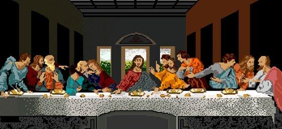 Poslední večeře Páně v 8-bitové grafice