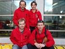 Poprvé se se svými dvěma kolegy a kolegyní uviděl až v Patagonii před startem.