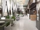 Vizualizace nové kavárny v Paláci Elektra.