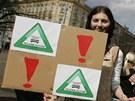 Místo parku parkoviště, požadovali účastníci demonstrace v hradeckých...