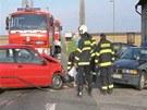 Druhá nehoda na silnici 1/11 u Lhoty pod Libčany.