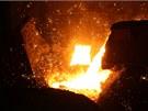 Místo, odkud se napouští surové železo o teplotě kolem 1500°C do Veroniky