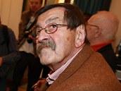 N�meck� spisovatel G�nter Grass p�i n�v�t�v� Prahy v prosinci 2007.