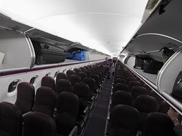 Interiér nové A320 společnosti Wizz Air
