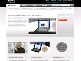 Sony se pochlubilo opravdu mal�m ultrabookem Vaio - t�ko se do n�j vejde i ta