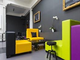 Nábytek je hodně variabilní, hosté si jej mohou sestavit podle svých požadavků.