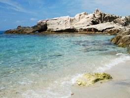 Pláž Baia di Riaci u města Santa Domenica