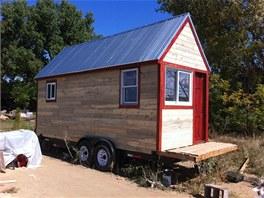 Mobilní domek má 12 metrů čtverečních.