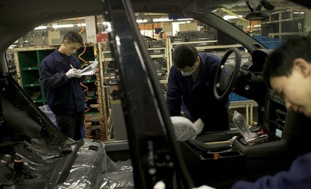 �ínská továrna automobilky Ford.