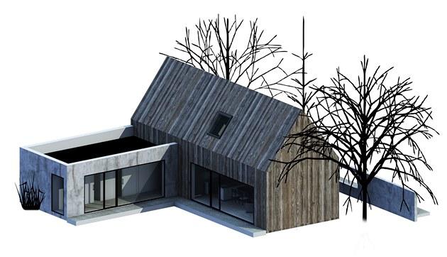 Vít�zný návrh architektonické sout�e Sou�asný �eský d�m od studenta Tomá�e