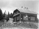 Historický snímek chaty Pohorské jednoty Radhošť na Velkém Javorníku s