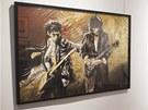 Mezi obrazy Ronnieho Wooda samozřejmě nechybějí ani portréty jeho spoluhráčů z