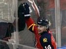 Tomáš Fleischmann z Floridy se raduje z gólu v zápase s New Jersey.