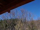Bystřice pod Lopeníkem, výhled z ochozu věže